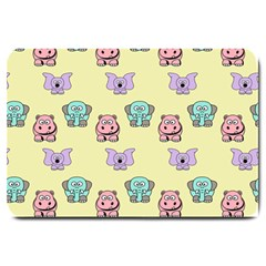 Animals Pastel Children Colorful Large Doormat