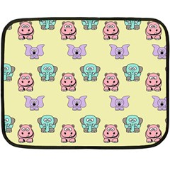 Animals Pastel Children Colorful Double Sided Fleece Blanket (Mini)