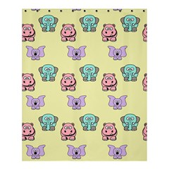 Animals Pastel Children Colorful Shower Curtain 60  x 72  (Medium)