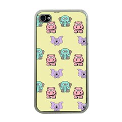 Animals Pastel Children Colorful Apple iPhone 4 Case (Clear)