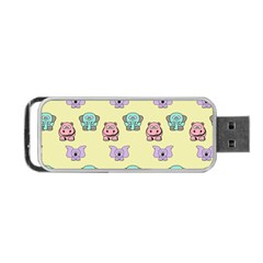 Animals Pastel Children Colorful Portable USB Flash (One Side)