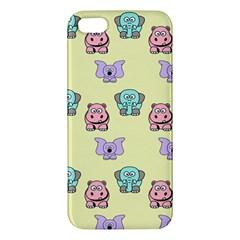 Animals Pastel Children Colorful Apple iPhone 5 Premium Hardshell Case