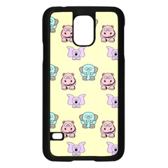 Animals Pastel Children Colorful Samsung Galaxy S5 Case (Black)