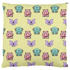 Animals Pastel Children Colorful Large Flano Cushion Case (One Side)