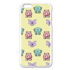 Animals Pastel Children Colorful Apple iPhone 6 Plus/6S Plus Enamel White Case