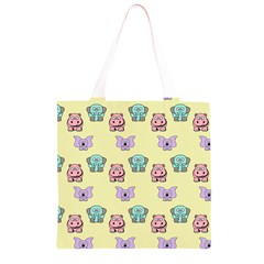 Animals Pastel Children Colorful Grocery Light Tote Bag