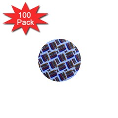 Abstract Pattern Seamless Artwork 1  Mini Magnets (100 pack)