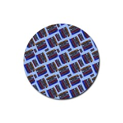 Abstract Pattern Seamless Artwork Rubber Round Coaster (4 pack)