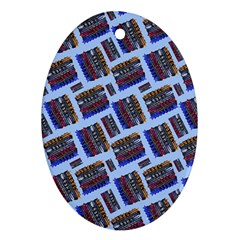 Abstract Pattern Seamless Artwork Oval Ornament (Two Sides)