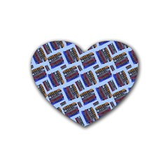 Abstract Pattern Seamless Artwork Heart Coaster (4 pack)