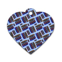 Abstract Pattern Seamless Artwork Dog Tag Heart (One Side)