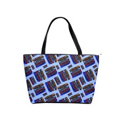 Abstract Pattern Seamless Artwork Shoulder Handbags