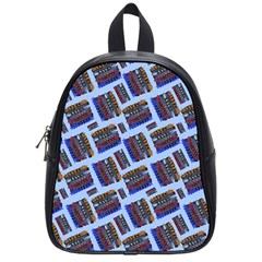 Abstract Pattern Seamless Artwork School Bags (Small)