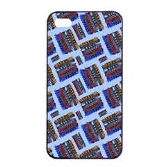 Abstract Pattern Seamless Artwork Apple iPhone 4/4s Seamless Case (Black)
