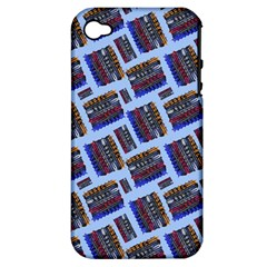 Abstract Pattern Seamless Artwork Apple iPhone 4/4S Hardshell Case (PC+Silicone)
