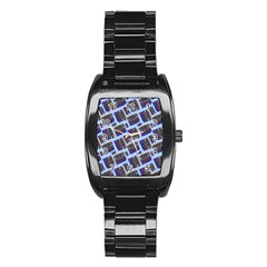 Abstract Pattern Seamless Artwork Stainless Steel Barrel Watch