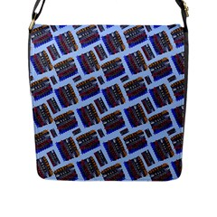 Abstract Pattern Seamless Artwork Flap Messenger Bag (L)