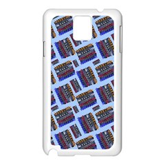 Abstract Pattern Seamless Artwork Samsung Galaxy Note 3 N9005 Case (White)