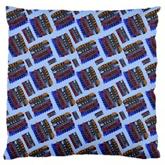 Abstract Pattern Seamless Artwork Large Flano Cushion Case (Two Sides)