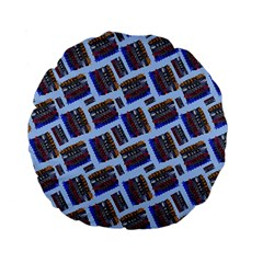 Abstract Pattern Seamless Artwork Standard 15  Premium Flano Round Cushions