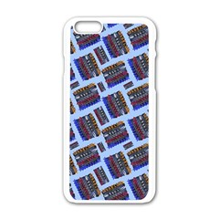 Abstract Pattern Seamless Artwork Apple iPhone 6/6S White Enamel Case