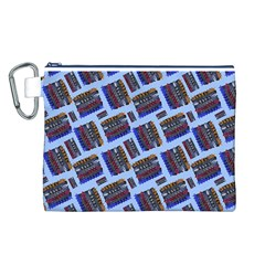 Abstract Pattern Seamless Artwork Canvas Cosmetic Bag (L)