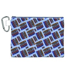 Abstract Pattern Seamless Artwork Canvas Cosmetic Bag (XL)