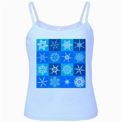 Background Blue Decoration Baby Blue Spaghetti Tank