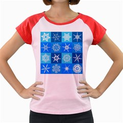 Background Blue Decoration Women s Cap Sleeve T-Shirt