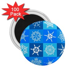 Background Blue Decoration 2.25  Magnets (100 pack)
