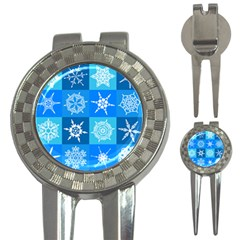 Background Blue Decoration 3-in-1 Golf Divots