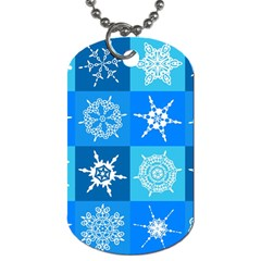 Background Blue Decoration Dog Tag (Two Sides)