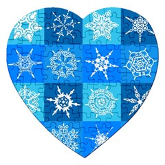 Background Blue Decoration Jigsaw Puzzle (Heart)