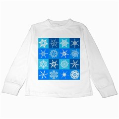 Background Blue Decoration Kids Long Sleeve T-Shirts