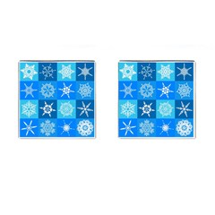Background Blue Decoration Cufflinks (Square)