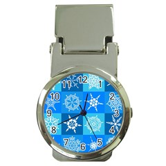 Background Blue Decoration Money Clip Watches