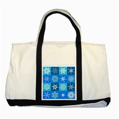 Background Blue Decoration Two Tone Tote Bag