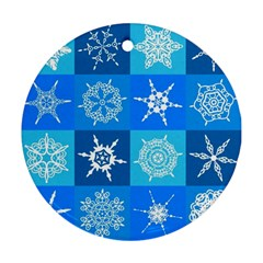 Background Blue Decoration Round Ornament (Two Sides)