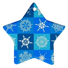 Background Blue Decoration Star Ornament (Two Sides)