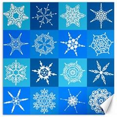 Background Blue Decoration Canvas 16  x 16