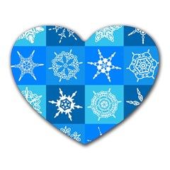 Background Blue Decoration Heart Mousepads
