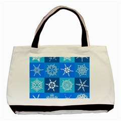 Background Blue Decoration Basic Tote Bag (Two Sides)