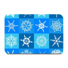 Background Blue Decoration Plate Mats