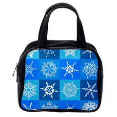 Background Blue Decoration Classic Handbags (One Side)