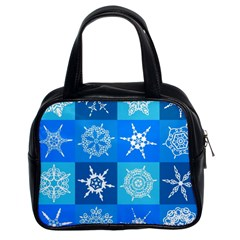 Background Blue Decoration Classic Handbags (2 Sides)