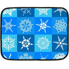 Background Blue Decoration Fleece Blanket (Mini)