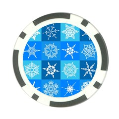 Background Blue Decoration Poker Chip Card Guards (10 pack)