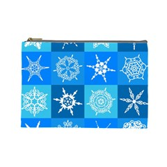 Background Blue Decoration Cosmetic Bag (Large)