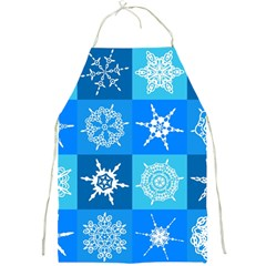Background Blue Decoration Full Print Aprons