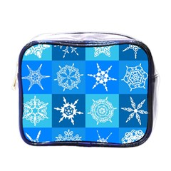 Background Blue Decoration Mini Toiletries Bags
